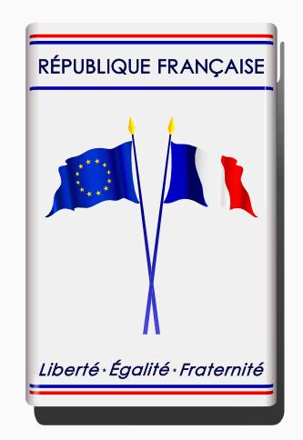 Modele plaque pavoisement drapeau france europe unniversel