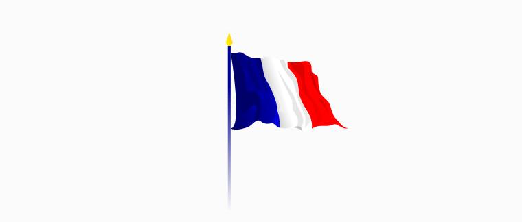 Pavoisement avec un seul drapeau